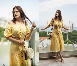 Viktoriya Sener - Shein Top, Shein Skirt - Yellow twin-set