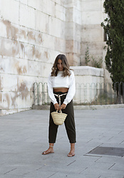 Claudia Villanueva - Zaful Sweatshirt, Zara Pants, Local Store Bag, Primark Sandals - String Belt