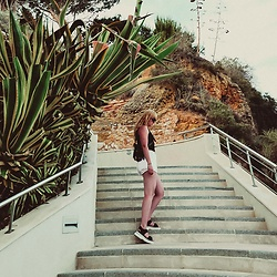 Wioletta M - Top Shop Shorts, Tk Maxx Shoes, Asos Bum Bag, Nike Top - Algarve - Portugal - My Summer Look
