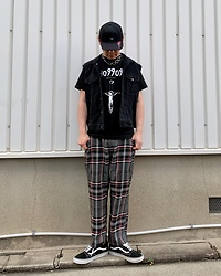 ★masaki★ - Vans David Bowie Collaboration, Ho99o9 Tee, Dogpile Plaid Pants, Vans Oldskool - Treasure Cap