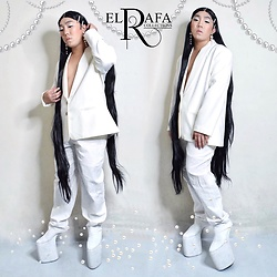 Rafa Concepcion - Ali Express 65 Inches Center Parting Wig, Shopee Pearl Earrings, Elrafa Blazer, Tommy Hilfiger Pants, Elrafa Heelless - Pearl of the Orient
