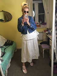 Syla Sassowna - H&M Denim Jacket, H&M Top, Charity Shop Skirt, Asos Shoes - Nurse or Nun, Hun?