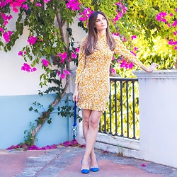 El Rincón de Rachel - Shein Floral Print Shirred Dress - Floral Print Shirred Dress Outfit