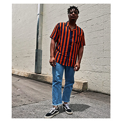 Jason - Vans Old Skools, Asos Cropped Denim, Urban Outfitters Striped Shirt - Well Earned