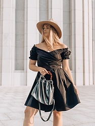 Marta Caban - Orsay Dress, Orsay Bag, Orsay Hat - Little Black Dress You Need Now