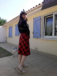 Lulu Longstocking - Second Hand Bolero, Tartan Skirt - Pin up