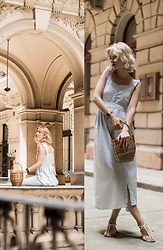 Ani Łatyńska - Chic Wish Baby Blue Dress, Asos Strap Sandals - Secrets of Budapest