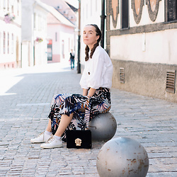 Iva K - Zara Culottes, Tamaris Sneakers, Diy Top - Today