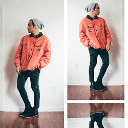 Andre Tan - Zara Beanie, Tommy Hilfiger Jacket, New Republic Chelsea Boots - Off duty
