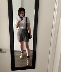 Jenny Hou - Zara High Waisted Shorts, Zara Dad Shoes - Casual shopping day 👌