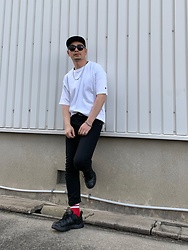 ★masaki★ - Champion Tee, Dickies Skinnyjeans, Nike Air Monarch - ☆Simple☆