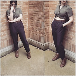 Lyndee M. - Forever 21 Twist Front Shirt, H&M Linen Trousers - Summer suit