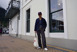 Dan Pantoja - Ebbets Field Flannel Vintage, Uniqlo Navy Work Jacket, Vintage Grey Trousers, Common Projects White Achilles - INSTAGRAM - @danmpantoja Δ