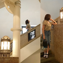 Chihiro_04.10 - Zara Bag, Uniqlo Sandals, Zara Skirt, Instagram - Beautiful place
