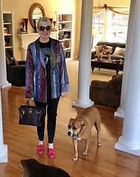 Shannon D - Gucci Loafers, Chloé Sunglasses, Hermès Bag - Gucci Hot Pink Loafers