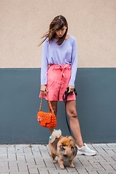 Malia Keana - Zara Sweater, Mango Paperback Shorts, Bag, Chanel Broche - Sporty pastels
