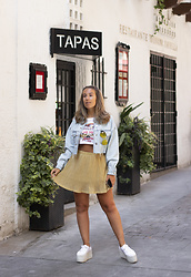 Claudia Villanueva - Zara Jacket, Lefties Crop Top, Dresslily Skirt, Superga Sneakers - Gold Days