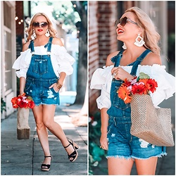 Zia Domic - Siwy Denim Overall Shorts - Overalls & Ruffles.