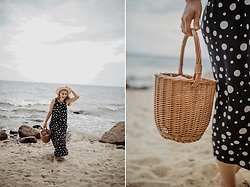 Aleksandra Szymiczek -  - Black dotted dress - sea!