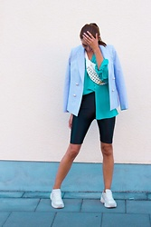 Malia Keana - Claudie Pierlot Blazer, Equipment Blouse, Zara Shorts - Radler Shorts