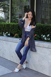 Kimberly Kong - Free People Lace Bralette, Almost Famous Clothing High Waisted Jeans - Why You Need to Own Almost Famous Denim