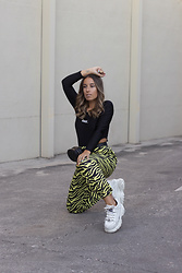 Claudia Villanueva - Shein Bodysuit, Shoespie Pants, Buffalo London Sneakers - High Cut Bodysuit