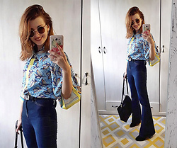 Malinina-ek - - Femmeluxefinery Jeans, Girlmerry Top, Jupitoo Sunglasses - Retro
