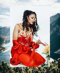 K. C - I Style Looks Red Dress - Stillness