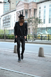 INWON LEE - Byther Shirt, Byther Black Biker Jeans - Black Biker Jeans