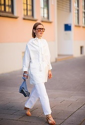 Anna Borisovna - Mango Shirt, Mango Pants, Mango Shoes, Céline Bag - The White Look