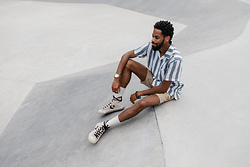 Tony Logan - Life After Denim Short Sleeve Awning Shirt, Life After Denim Newcastle Linen Short, Converse - Summer Daze