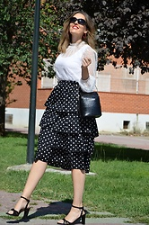 Elisabeth Green - Femmeluxe Shirt, Rosegal Skirt - Plumetti and Polka Dots