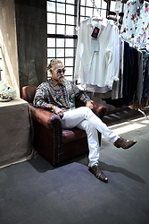 INWON LEE - Byther Ethnic Bandana Pattern Shirt, Byther Biker Jeans - Cool Shirt