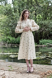 Summer R - & Other Stories Prairie Style Midi Dress, Zara Mary Jane Heels - Coffee Bean Prairie Dress