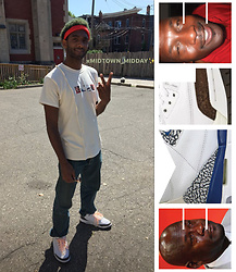 Emery Jones - Emle Eyedrops Box Logo Graphic Tee, Levi's® Levi Lightskinned Denim, Nike Air Jordan Iii Retro Mocha -  xCOMMUNITY_SERVICE✨