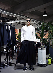 INWON LEE - Byther Basic Embossed Loose Fit T Shirt, Byther Wide Pants - Super WIDE Baggy Pants