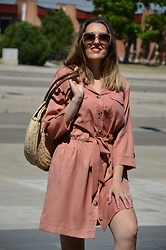 Elisabeth Green - Dear Lover Dress - Pink Shirt Dress