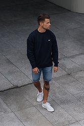 Kevin Elezaj - Nike Sneakers, Levi's® Shorts, Lacoste Sweater - Ready for the weekend
