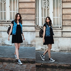 Audrey - Brandy Melville Usa Dress, Primark Jacket, Converse Sneakers - The little black dress
