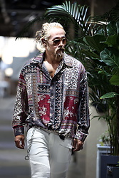 INWON LEE - Byther Ethnic Bandana Pattern Shirt, Byther Biker Jeans - Funky Pattern Shirt