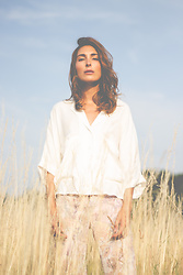Malia Keana - Zara Blouse, Zara Pants - Fields of gold