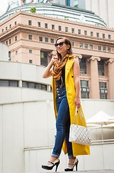 Lindsey Puls - Shein Trench, Modcloth Jeans, Demon Tz Scarf, Kate Spade Bag - A Subtle Halloween Look