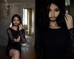 Bogena Día - Black Lace Dress - RISE LIKE A PHOENIX. Cosplay Conchita Wurst.