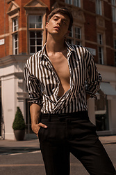 Georg Mallner - H&M Stripe Shirt, Topman Pants - September 13, 2019