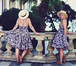 Anca Varsandan - H&M Floral Dress, Ccc Shoes Flat Sandals - Corfu Town