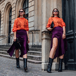 Jacky - Chimi Eyewear Sunglasses, Custommade Pullover, Custommade Skirt, Maison Heroine Bag, Fendi Boots - Colour Blocking: what you need to know