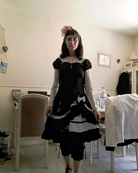 Lulu Longstocking - Bodyline Thrifted Lolita Dress - Lolita