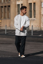 Kevin Elezaj - Converse Sneakers, Weekday Pants, Weekday Sweater - Casualty