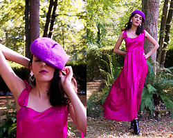 Maeva - Noracora Dress, Noracora Beret, Noracora Earrings - NORACORA - 1