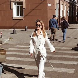 Elena N -  - White jumpsuit